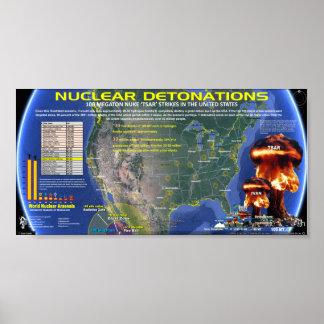 Nuclear Detonations - USA Poster
