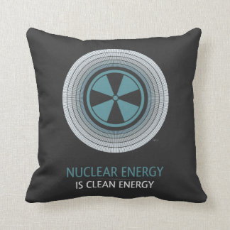 Nuclear Energy Is Clean Energy Throw Pillow