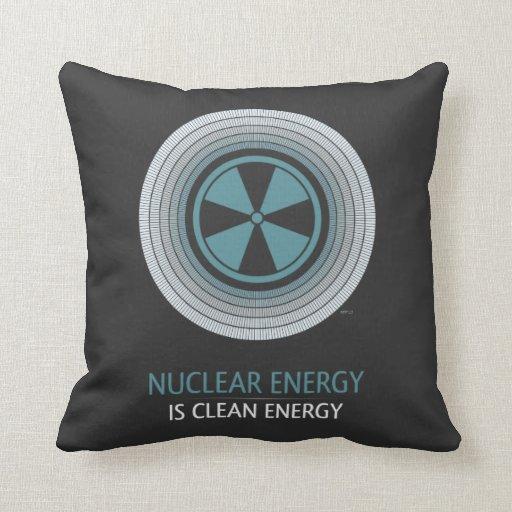 Nuclear Energy Is Clean Energy Throw Pillow