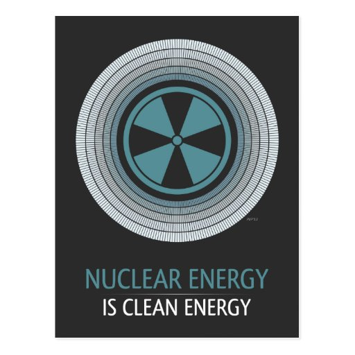 Nuclear Energy Is Clean Energy Post Cards