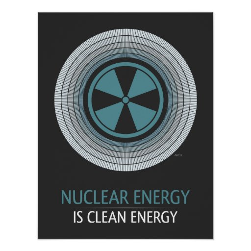 Nuclear Energy Is Clean Energy Poster