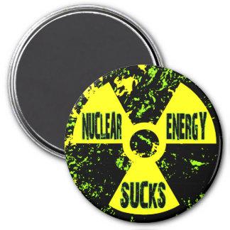 Nuclear Energy Sucks 7.5 Cm Round Magnet