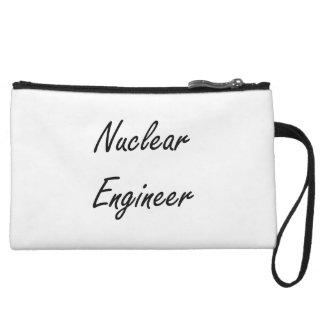 Nuclear Engineer Artistic Job Design Wristlet Purses