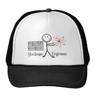 Nuclear Engineer Gifts--Stick People Humor Trucker Hat