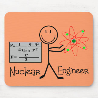 Nuclear Engineer Gifts--Stick People Humor Mouse Mat