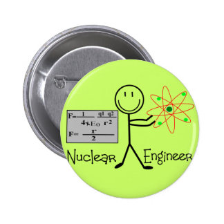 Nuclear Engineer Gifts--Stick People Humor Pin