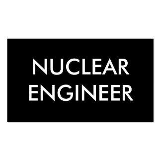nuclear engineer pack of standard business cards