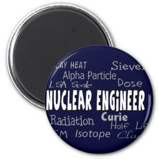 Nuclear Engineer Terminology Gifts 6 Cm Round Magnet