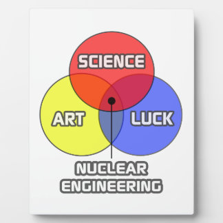 Nuclear Engineering .. Science Art Luck Display Plaques