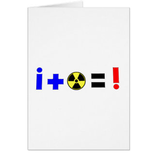Nuclear Equation Greeting Card