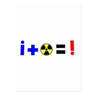 Nuclear Equation Postcard
