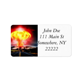 Nuclear Explosion Address Label