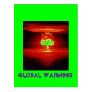nuclear-explosion GLOBAL WARMING Postcard