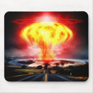 Nuclear explosion mushroom cloud illustration mouse pads