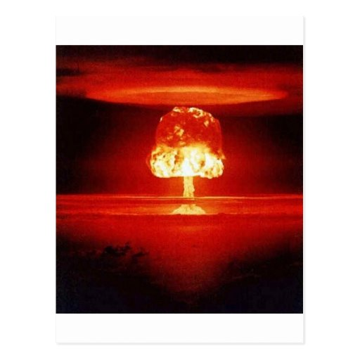 nuclear-explosion postcards