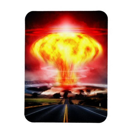 Nuclear Explosion Vinyl Magnet