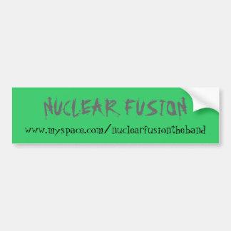 NUCLEAR FUSION CAR BUMPER STICKER