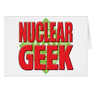 Nuclear Geek v2 Greeting Cards