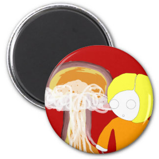 Nuclear Girl 6 Cm Round Magnet