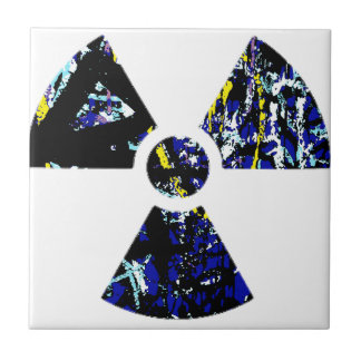Nuclear Graffiti Ceramic Tile