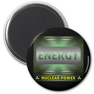 Nuclear Is Clean Energy 6 Cm Round Magnet