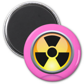 Nuclear Keychains & Buttons 6 Cm Round Magnet