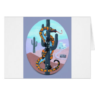 Nuclear Lizard Print Greeting Card