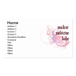 Nuclear Medicine Babe Pack Of Standard Business Cards