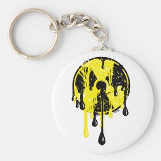 Nuclear meltdown basic round button key ring
