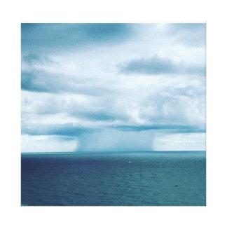Nuclear Mushroom Rainstorm at Sea Canvas Print