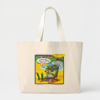 Nuclear Neighbors (Twin Frogs) Funny Gifts & Cards Large Tote Bag