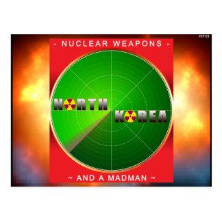 Nuclear North Korea Postcard