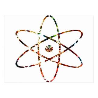 Nuclear Nucleas -  Red Sparkle Design Postcard