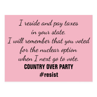 Nuclear Option Constituent Resist Remember Vote Postcard