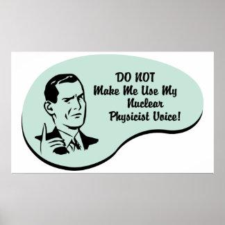 Nuclear Physicist Voice Print