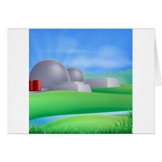 Nuclear power energy illustration card