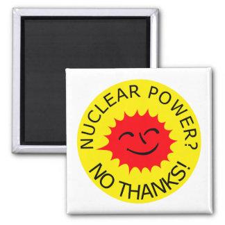 Nuclear Power, No Thanks Fridge Magnet