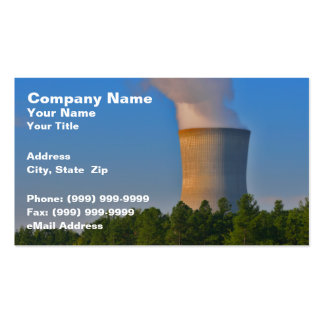 Nuclear Power Plant Pack Of Standard Business Cards