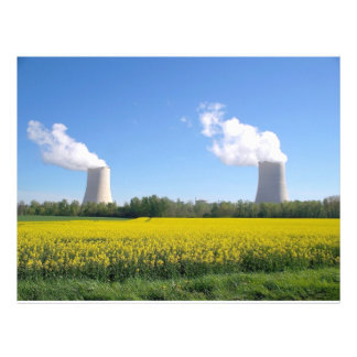 Nuclear power seedling - Nuclear power plant Flyer Design