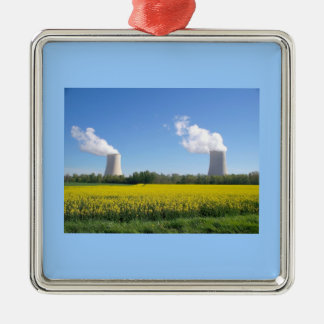 Nuclear power seedling - Nuclear power plant Silver-Colored Square Decoration