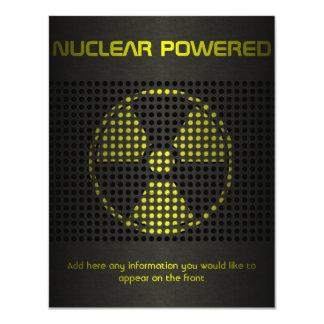 Nuclear Powered 11 Cm X 14 Cm Invitation Card
