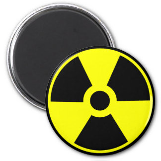 Nuclear Radiation Symbol Radioactive Symbol 6 Cm Round Magnet