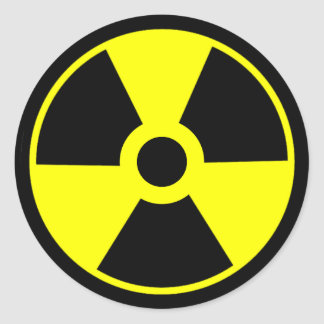Nuclear Radiation Symbol Radioactive Symbol Classic Round Sticker