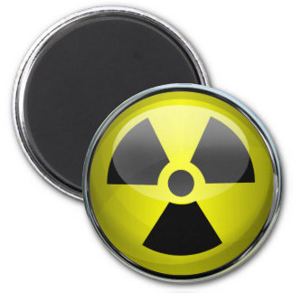 Nuclear Radiation Symbol Radioactive Warning Sign 6 Cm Round Magnet