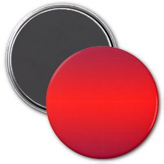 Nuclear Red Gradient - Poppy Reds Template Blank 7.5 Cm Round Magnet