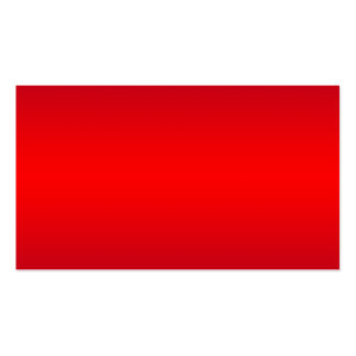 Nuclear Red Gradient - Poppy Reds Template Blank Pack Of Standard Business Cards