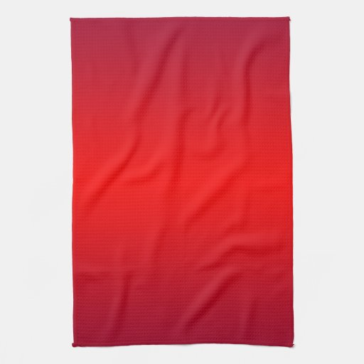 Nuclear Red Gradient - Poppy Reds Template Blank Hand Towel