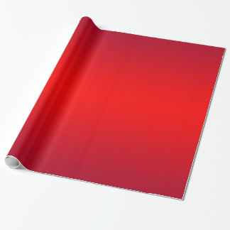Nuclear Red Gradient - Poppy Reds Template Blank Wrapping Paper