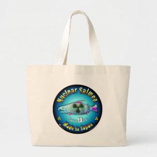 Nuclear Salmon blue Canvas Bag