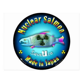Nuclear Salmon blue Postcard
